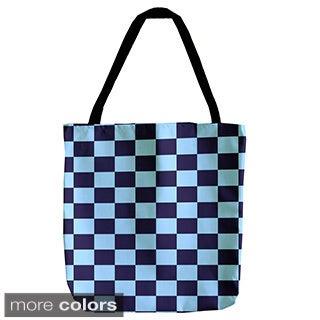 Checker Board Geometric 18-inch Tote Bag