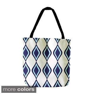 Geometric Diamond Woven 18-inch Tote Bag