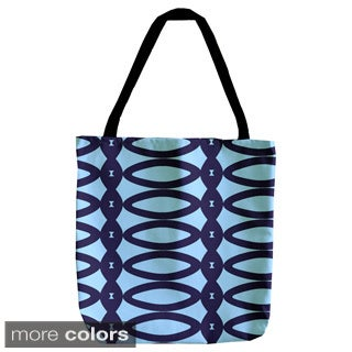 Abstract Geometric Oval 18-inch Tote Bag