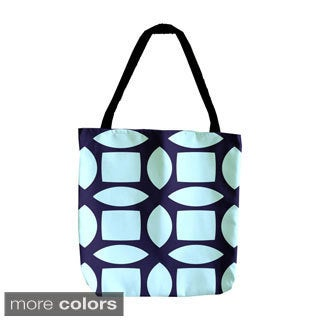 Abstract Geometric Woven 18-inch Tote Bag