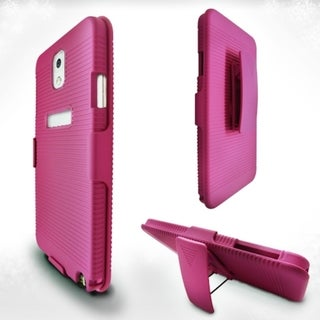 INSTEN Pink Rubberized Hard Slim Snap-on Holster Phone Case Cover For Samsung Galaxy Note 3