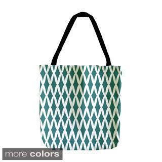 Holiday Geometric Small Lattice 18-inch Tote Bag