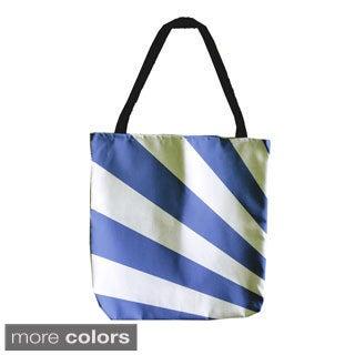 Geometric Radiating Stripe 18-inch Tote Bags