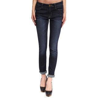Anladia Women's Dark Blue Denim Skinny Jeans