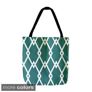 Holiday Geometrics 18-inch Interlocking Diamond Tote Bag
