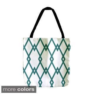 Interlocking Diamond Holiday Geometrics 18-inch Tote Bags