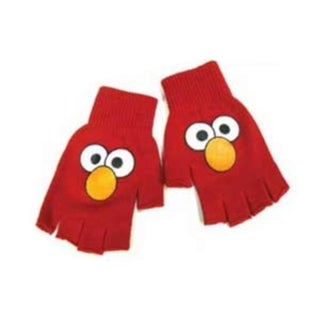 Elmo Face Sesame Street Red Adult Fingerless Gloves