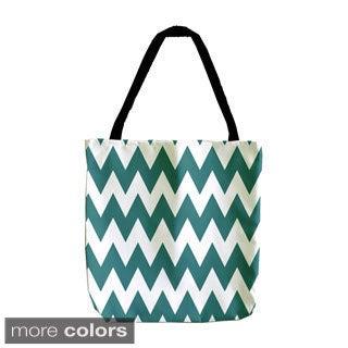 Chevron Holiday Geometrics 18-inch Tote Bags