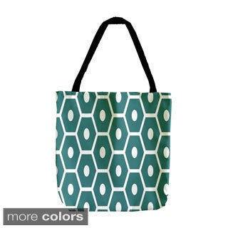 Holiday Geometrics 18-inch Dot Hexagon Tote Bags