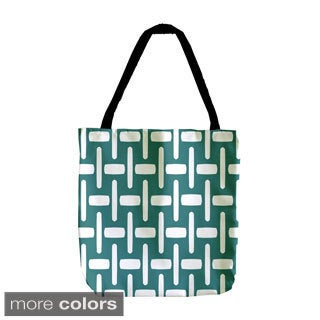 Woven Pattern Holiday Geometrics 18-inch Tote Bags