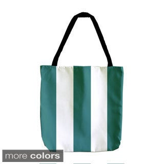 Wide Holiday Stripe 18-inch Tote Bag