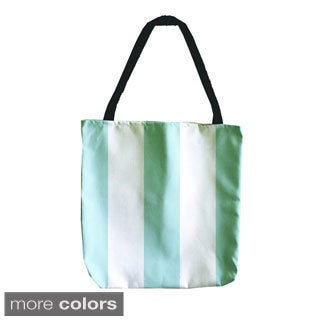 Wide Striped 18-inch Tote Bags
