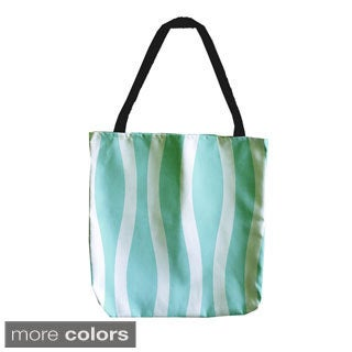 Striped Wave 18-inch Tote Bags