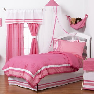 Simplicity Hot Pink 8-piece Full size Bed-in-a-Bag with Sheet Set