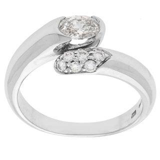 Bvlgari Astrea 18k White Gold 0.95ct TDW Diamond Ring (D-F, VS1-VS2, Size 5.75)