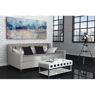 DHP Jordyn Grey Linen Upholstered Daybed