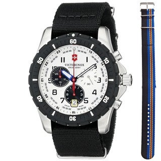Victorinox Swiss Army Men's 241680.1 'Maverick Sport' Chronograph Extra Strap Black Nylon Watch
