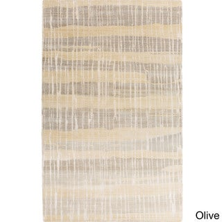 Candice Olson :Hand-Knotted Wilkes Stripe Pattern Rug (5' x 8')
