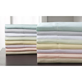 Concierge Microfiber Dobby Dot and Solid Sheet Sets (Pack of 2)