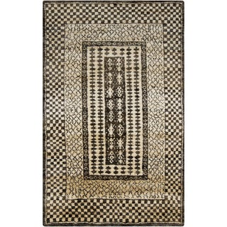 Hand-Knotted Veronica Border Jute Rug (8' x 11')