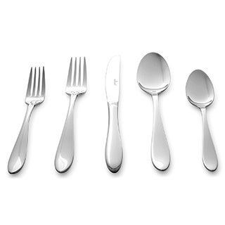 Culina Lorena Flatware for Four 18/10 Stainless Steel Silverware 20-piece with Mirror Finish