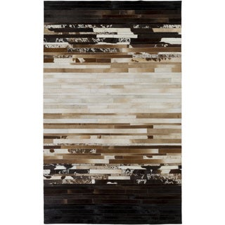 Hand-Crafted Rosalind Animal Leather Rug (5' x 8')