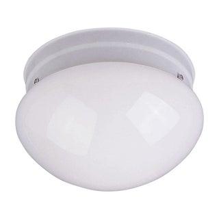 Flush Mount White Shade 1-light White Essentials 588x Light