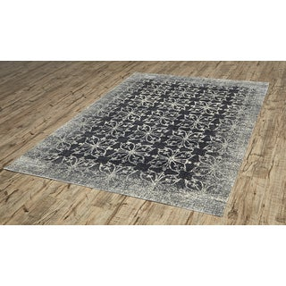 Grand Bazaar Chantal Dark Grey/ Silver Rug (9'2 x 12'2)