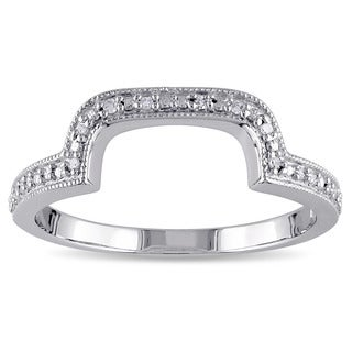 Haylee Jewels Sterling Silver Diamond Accent Contour Band