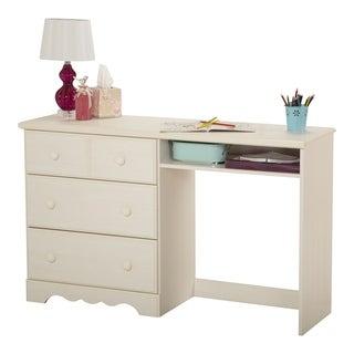 South Shore Summer Breeze White Wash 3-drawer Desk