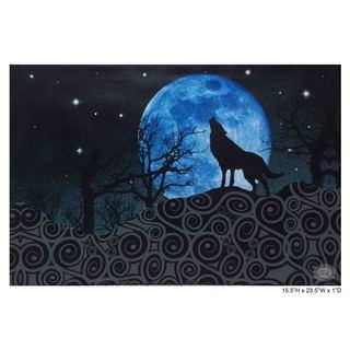 Chesta 'Beauty in the Dark Wolf' Fiber Optic Canvas Art
