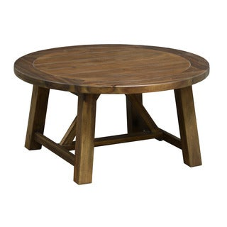 Acacia coffee sofa end tables overstock shopping for 36 inch round wood coffee table