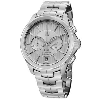 Tag Heuer Men's CAT2111.BA0959 'Link' Silver Dial Stainless Steel Chronograph Automatic Watch