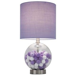 Purple Cotton Ball Table Lamp