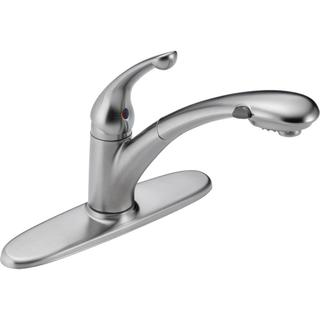Delta Signature Single-handle Pull-out Arctic Stainless Kitchen Faucet