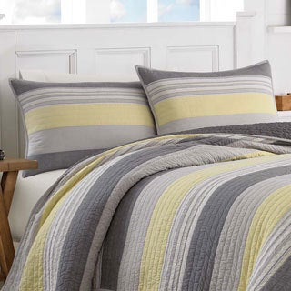Nautica Mondrian Grey Cotton Quilt