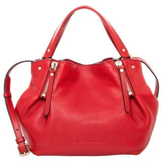 Burberry Small Brit Leather/ Canvas Maidstone Tote