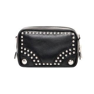 Prada Soft Leather Embellished Crossbody Bag