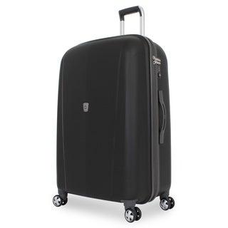 SwissGear Black 28-inch Hardside Upright Spinner Suitcase