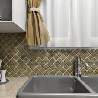 SomerTile 12.5 x 12.375-inch Antaeus Brownstone Porcelain Mosaic Floor and Wall Tile (Case of 10)