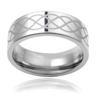 Vance Co. Titanium Men's Engraved 8mm Infinity Band