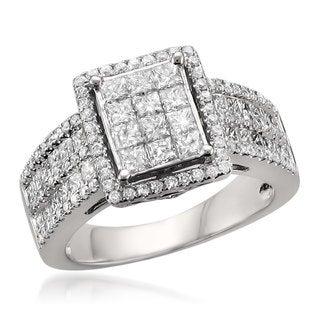 14k White Gold 2ct TDW Princess-cut Diamond Ring (G-H, SI1-SI2)