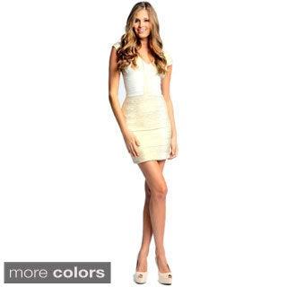 Sara Boo Women's Foil Bandage Dress