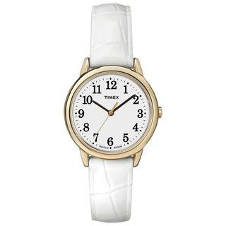 Timex Women's Easy Reader White Croco Pattern Leather Strap Watch