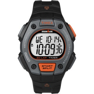 Timex Men's TW5K90900 Ironman Classic 30 Black/Orange Watch