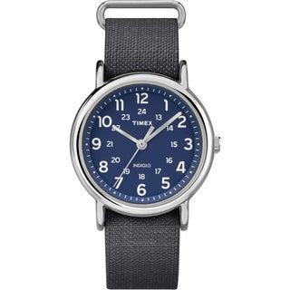Timex Unisex Weekender Gray Nylon Strap Watch