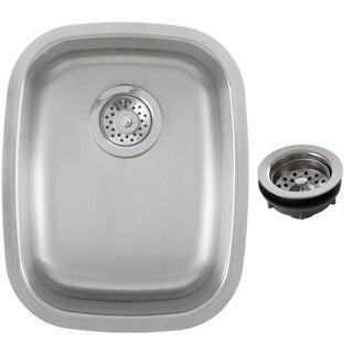 Ticor 15-inch Stainless Steel 16-gauge Undermount Single Bowl Kitchen/ Bar Sink