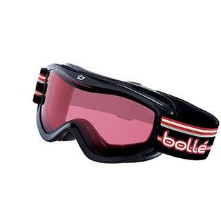 Bolle Kids Volt Goggles, Black Stripes Frame Vermillion Lens