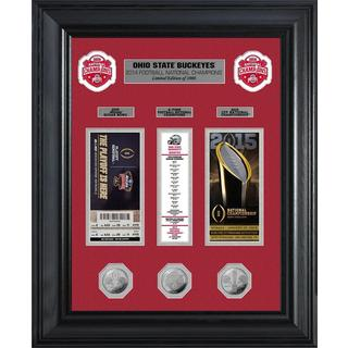Ohio State 2014 Football National Champions Deluxe Silver Coin and Ticket Collection