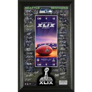 Seattle Seahawks Super Bowl 49 Signature Ticket
